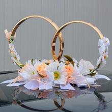 """Кольца на крышу свадебной машины """"Символ любви"""""""