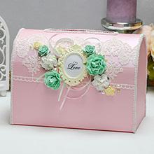 Свадебная копилка Таинственный сад (розовый)