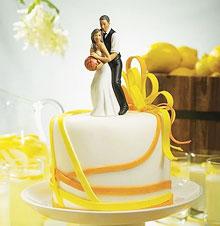 """Фигурка в торт """"Свадьба в ритме"""""""