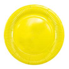 """Набор бумажных тарелок """"Солнышко"""", желтый, 6 шт (18 см)"""