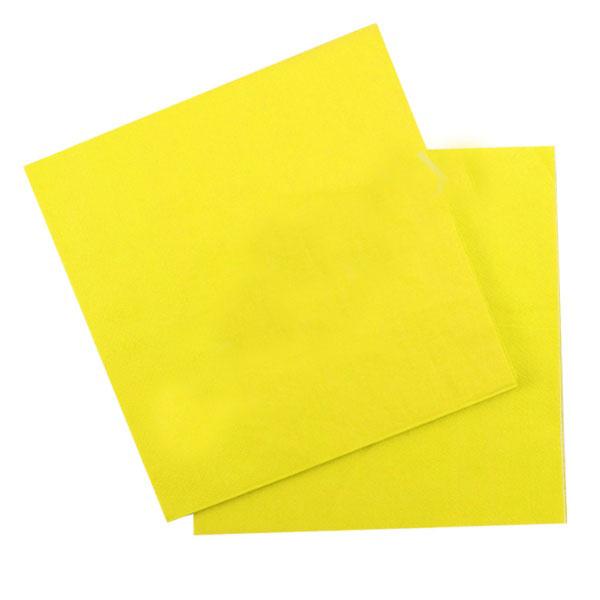 Бумажные салфетки (12 шт, 33 см) (желтый)