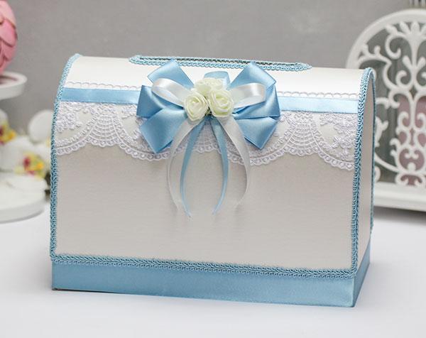 Свадебный сундучок Розанна (голубой)