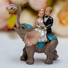 """Фигурка для торта """"Верхом на слоне"""" (9 см)"""