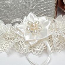 """Подвязка для невесты """"Нежный цветок"""""""