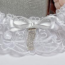 """Свадебная подвязка на ножку """"Каскад"""""""