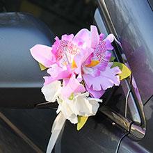 """Украшение на ручки/зеркала машины """"Орхидеи"""" (2 шт)"""
