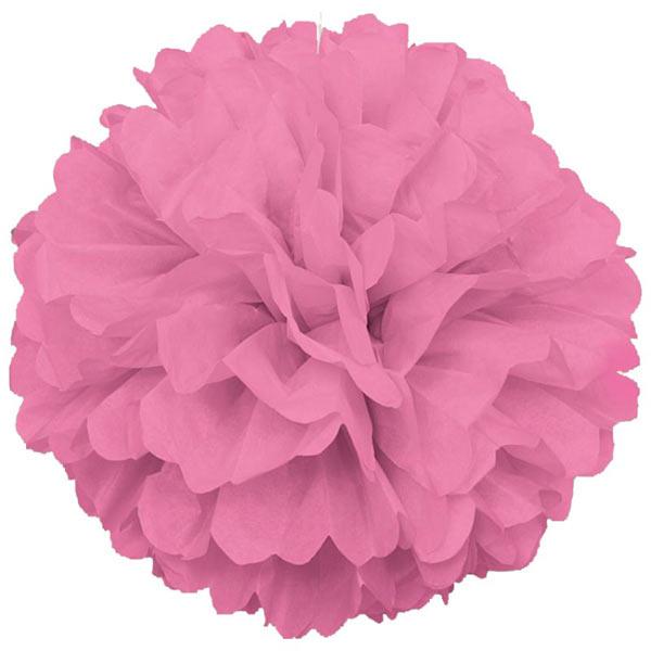 Помпоны из бумаги (45 см, 1 шт, розовый)