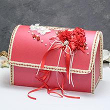 """Свадебный сундучок для подарков открывающийся """"Страсть"""""""