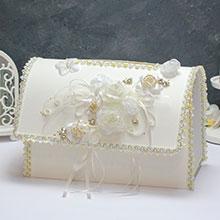 """Свадебный сундучок для подарков открывающийся """"Камелия"""""""