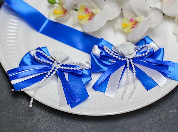 """Комплект свадебных аксессуаров для свидетелей """"Fantastic"""" (2 шт) (синий)"""