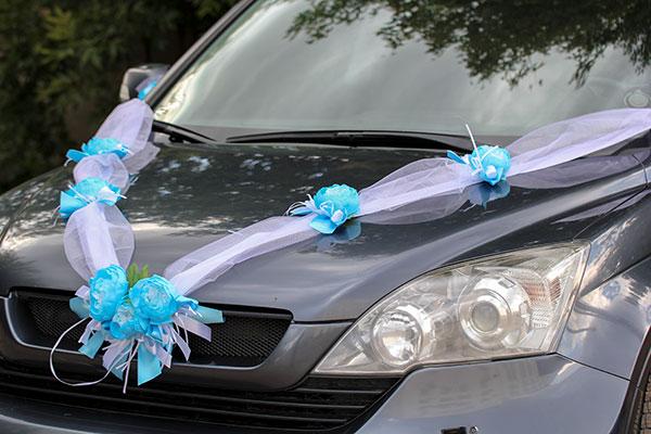 Красивая лента на машину Очарование (голубая)