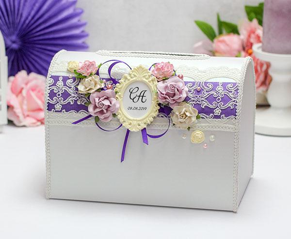 Свадебная копилка Таинственный сад (фиолетовый)