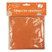 Скатерть однотонная (121х183см), п/э, оранж