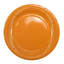 Бумажные тарелки (6 шт, 18 см), оранж