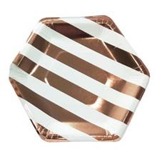 """Бумажные тарелки """"Rose Gold"""", 6 шт (20 см)"""