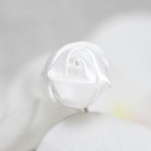 """Свадебная шпилька """"Ванильная розочка"""", белый"""