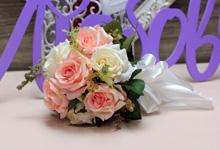 """Букет-дублер для невесты """"Роскошь"""", айвори-розовый"""