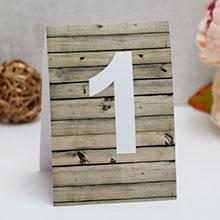 """Карточка с номером стола """"Wooden"""""""