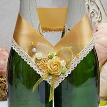 Украшение свадебных бутылок Уютная осень