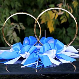 Кольца для авто Фантазия (бело-синий)