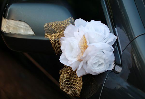 """Бутоньерки на авто """"Адажио"""" (белый)"""