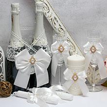 Комплект свадебных аксессуаров Винтажный шик (3)