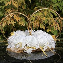 Кольца на крышу свадебной машины Адажио (белые)