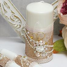 Домашний очаг + 2 свечи Античное золото (без подсвечников)