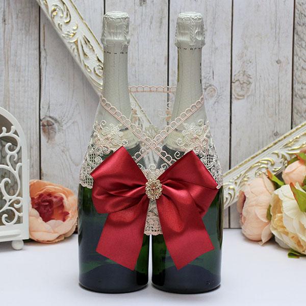 Украшение для шампанского Винтажный шик (винный)