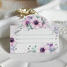 """Банкетная карточка """"В сиреневых цветах"""""""