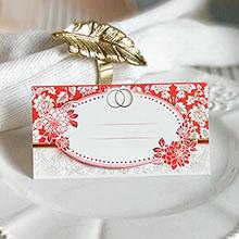 """Банкетная карточка для гостей """"Красное золото"""""""