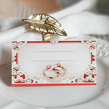 """Банкетная карточка для рассадки гостей """"Простая элегантность"""""""