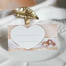 """Рассадочная карточка """"Обручальные кольца"""""""