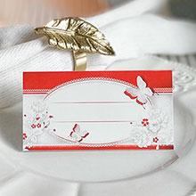"""Банкетная карточка """"Бабочки"""""""