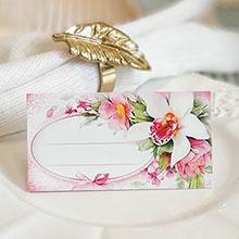 """Банкетная карточка """"Розовая лилия"""""""