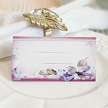 """Рассадочная карточка для гостей """"Сиреневый бант"""""""