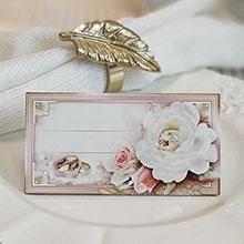 """Банкетная карточка для гостей """"Прикосновение"""""""