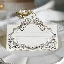 """Рассадочная  карточка """"Вензеля"""" (#08774, золото)"""