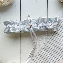 Подвязка для невесты Серебряная звезда