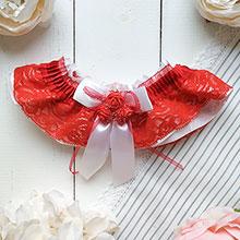 Подвязка для невесты Арина (красный)