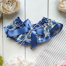 Подвязка для невесты Свадьба в стиле гжель