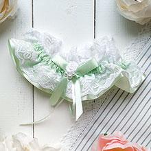 Подвязка для невесты Очаровательная нежность (салатовый)