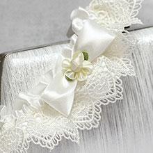 Свадебная подвязка для невесты из плетеного кружева