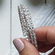 """Свадебный браслет для невесты """"Стразово-жемчужная радость"""""""