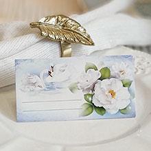 """Рассадочная карточка для гостей """"Лебеди в тумане"""""""