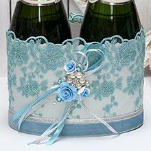 """Декоративный чехол для шампанского """"Небесная фантазия"""""""