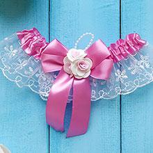 Подвязка для невесты Дебют (светло-лиловый)