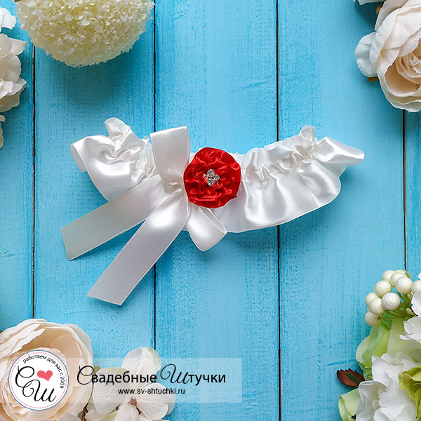 Подвязка для невесты Марокканская роза (айвори)