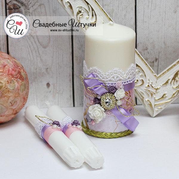 """Набор свадебных свечей """"Версаль"""" (3 свечи без подсвечников)"""
