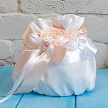 """Сумочка-мешочек для невесты """"Медовый леденец"""""""